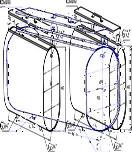 Бак для теплообменника горизонтальный эллипс навесной